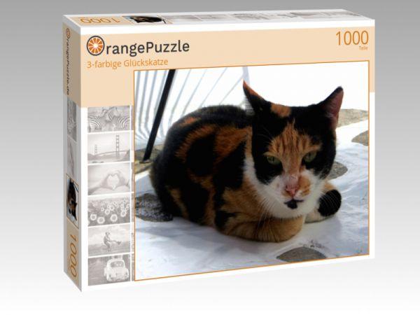 "Puzzle Motiv ""3-farbige Glückskatze"" - Puzzle-Schachtel zu 1000 Teile Puzzle"