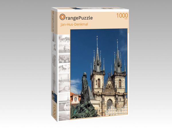 """Puzzle Motiv """"Jan-Hus-Denkmal"""" - Puzzle-Schachtel zu 1000 Teile Puzzle"""