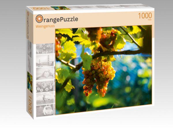 """Puzzle Motiv """"Weingenuss"""" - Puzzle-Schachtel zu 1000 Teile Puzzle"""