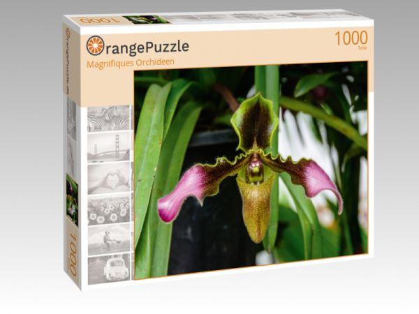"""Puzzle Motiv """"Magnifiques Orchideen"""" - Puzzle-Schachtel zu 1000 Teile Puzzle"""