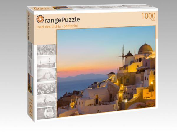 """Puzzle Motiv """"Insel des Lichts - Santorini"""" - Puzzle-Schachtel zu 1000 Teile Puzzle"""