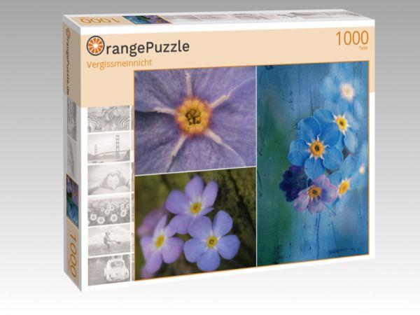 """Puzzle Motiv """"Vergissmeinnicht"""" - Puzzle-Schachtel zu 1000 Teile Puzzle"""