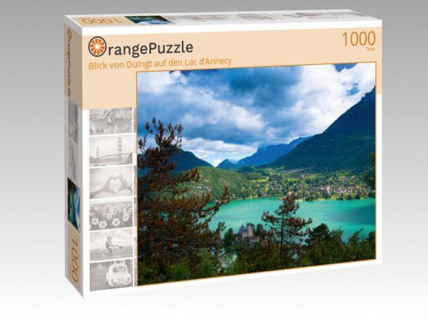 """Puzzle Motiv """"Blick von Duingt auf den Lac d'Annecy"""" - Puzzle-Schachtel zu 1000 Teile Puzzle"""
