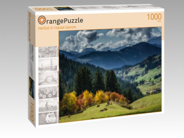 """Puzzle Motiv """"Herbst in Haute-Savoie"""" - Puzzle-Schachtel zu 1000 Teile Puzzle"""
