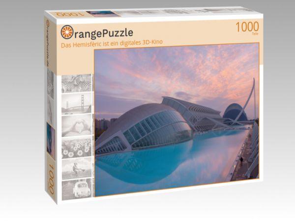 """Puzzle Motiv """"Das Hemisfèric ist ein digitales 3D-Kino"""" - Puzzle-Schachtel zu 1000 Teile Puzzle"""