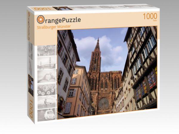 """Puzzle Motiv """"Straßburger Münster"""" - Puzzle-Schachtel zu 1000 Teile Puzzle"""