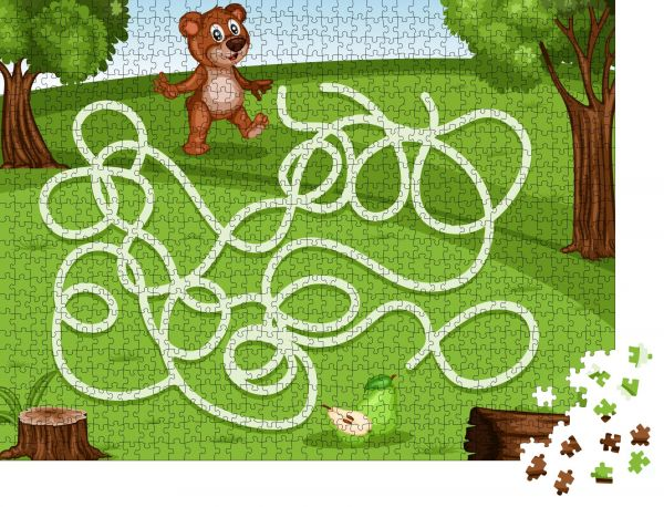 """Puzzle-Motiv """"Labyrinthspiel Hilf dem kleinen Bären, die Birnen reich zu machen"""" - Puzzle-Teile zu 1000 Teile Puzzle"""