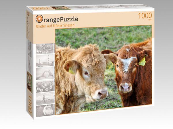 """Puzzle Motiv """"Rinder auf Eifeler Wiesen"""" - Puzzle-Schachtel zu 1000 Teile Puzzle"""