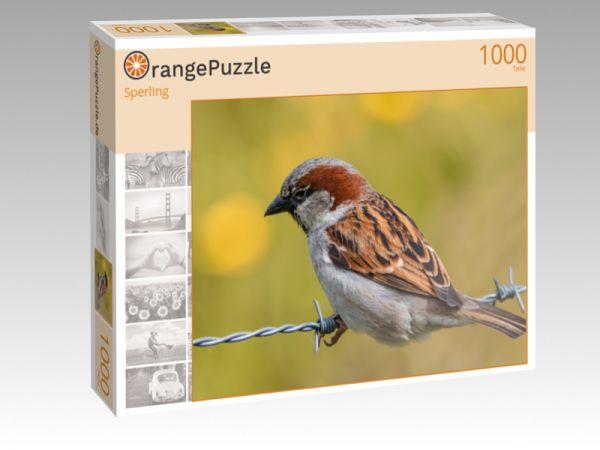 """Puzzle Motiv """"Sperling"""" - Puzzle-Schachtel zu 1000 Teile Puzzle"""