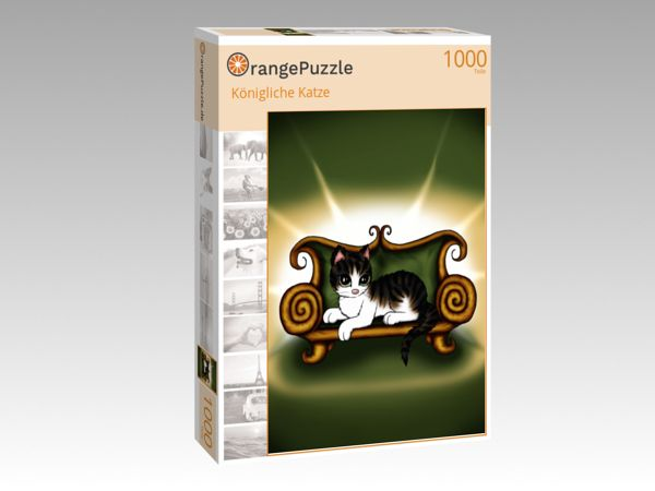 """Puzzle Motiv """"Königliche Katze"""" - Puzzle-Schachtel zu 1000 Teile Puzzle"""