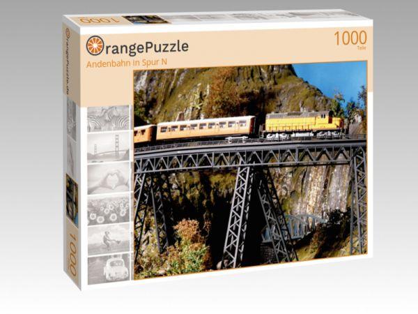 "Puzzle Motiv ""Andenbahn in Spur N"" - Puzzle-Schachtel zu 1000 Teile Puzzle"