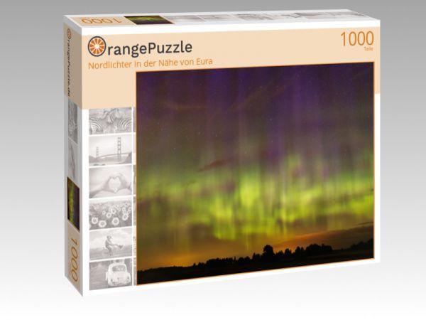 """Puzzle Motiv """"Nordlichter in der Nähe von Eura"""" - Puzzle-Schachtel zu 1000 Teile Puzzle"""