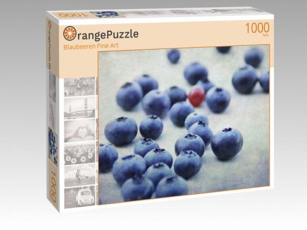 """Puzzle Motiv """"Blaubeeren Fine Art"""" - Puzzle-Schachtel zu 1000 Teile Puzzle"""