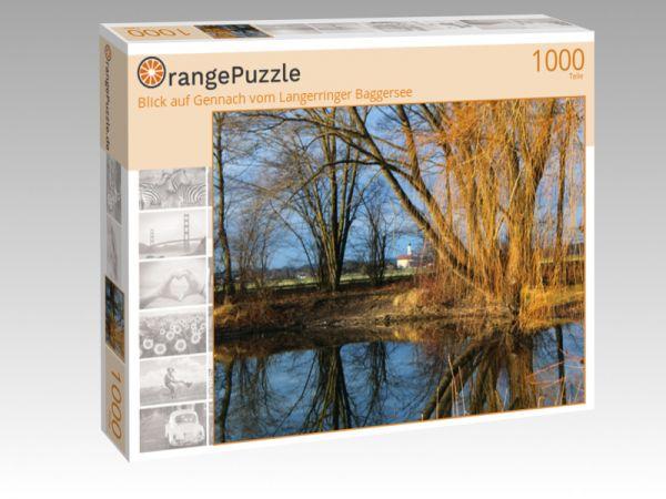 """Puzzle Motiv """"Blick auf Gennach vom Langerringer Baggersee"""" - Puzzle-Schachtel zu 1000 Teile Puzzle"""