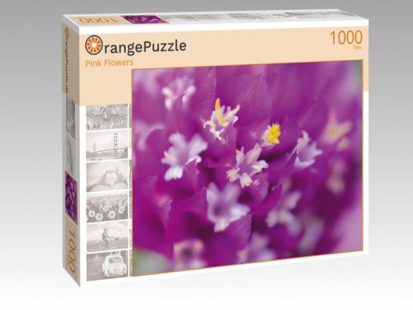 """Puzzle Motiv """"Pink Flowers"""" - Puzzle-Schachtel zu 1000 Teile Puzzle"""