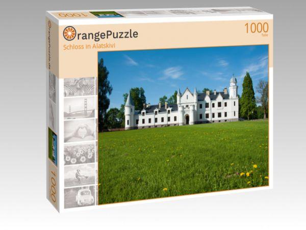 "Puzzle Motiv ""Schloss in Alatskivi"" - Puzzle-Schachtel zu 1000 Teile Puzzle"
