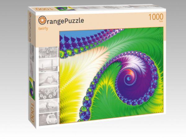 """Puzzle Motiv """"twirly"""" - Puzzle-Schachtel zu 1000 Teile Puzzle"""