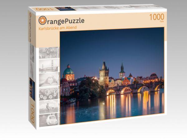 "Puzzle Motiv ""Karlsbrücke am Abend"" - Puzzle-Schachtel zu 1000 Teile Puzzle"