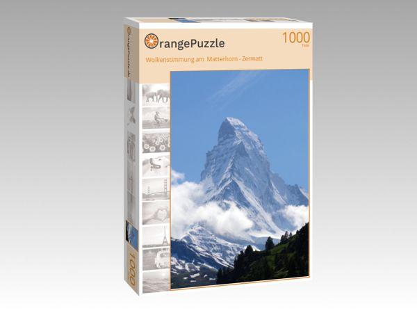 """Puzzle Motiv """"Wolkenstimmung am  Matterhorn - Zermatt"""" - Puzzle-Schachtel zu 1000 Teile Puzzle"""