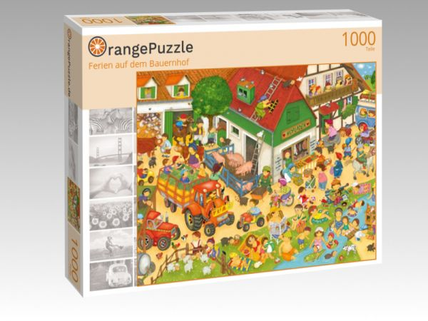 """Puzzle Motiv """"Ferien auf dem Bauernhof"""" - Puzzle-Schachtel zu 1000 Teile Puzzle"""