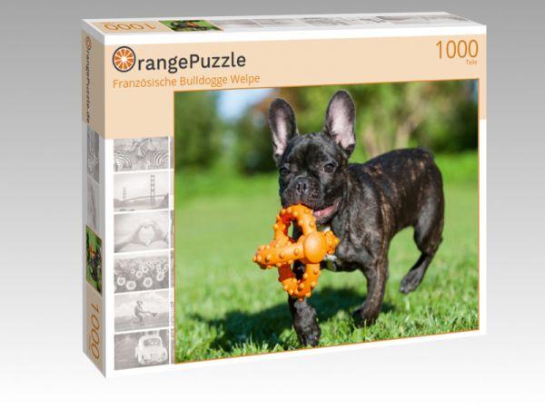 """Puzzle Motiv """"Französische Bulldogge Welpe"""" - Puzzle-Schachtel zu 1000 Teile Puzzle"""