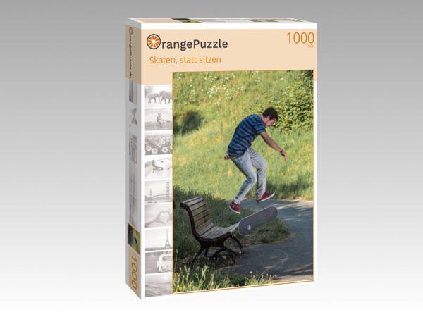 """Puzzle Motiv """"Skaten, statt sitzen"""" - Puzzle-Schachtel zu 1000 Teile Puzzle"""