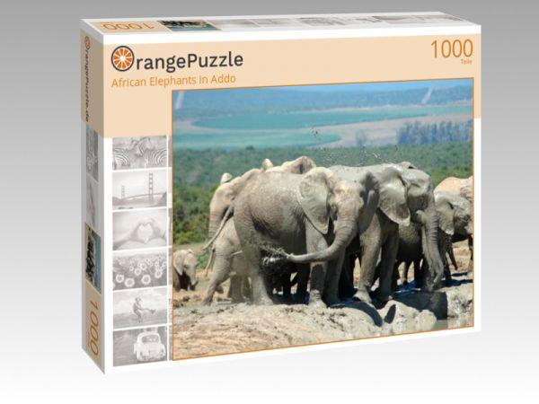 "Puzzle Motiv ""African Elephants in Addo"" - Puzzle-Schachtel zu 1000 Teile Puzzle"