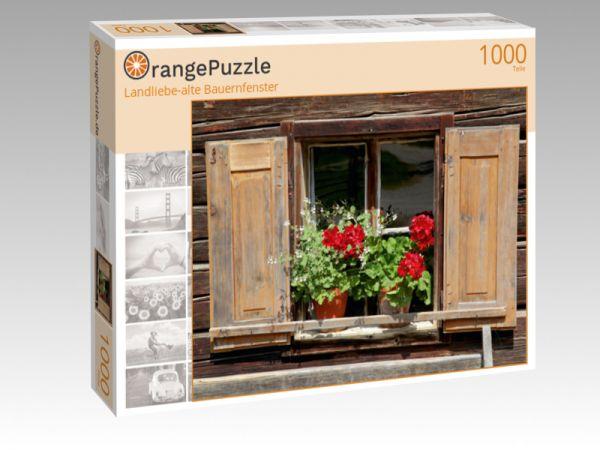"""Puzzle Motiv """"Landliebe-alte Bauernfenster"""" - Puzzle-Schachtel zu 1000 Teile Puzzle"""