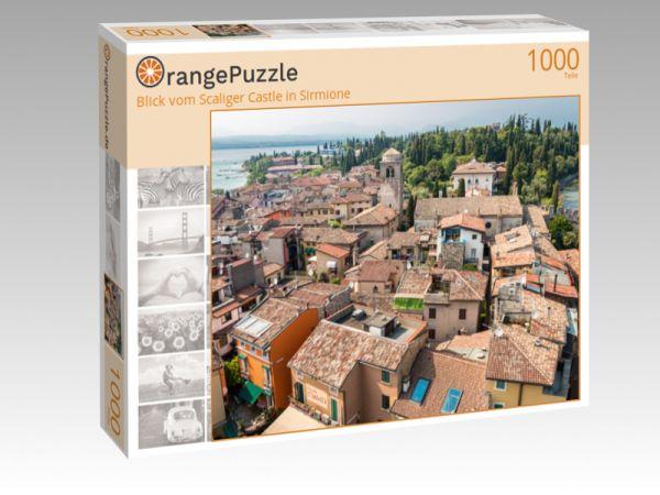"Puzzle Motiv ""Blick vom Scaliger Castle in Sirmione"" - Puzzle-Schachtel zu 1000 Teile Puzzle"