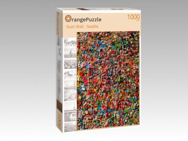 """Puzzle Motiv """"Gum Wall - Seattle"""" - Puzzle-Schachtel zu 1000 Teile Puzzle"""
