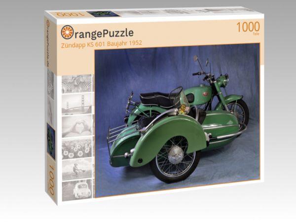 "Puzzle Motiv ""Zündapp KS 601 Baujahr 1952"" - Puzzle-Schachtel zu 1000 Teile Puzzle"