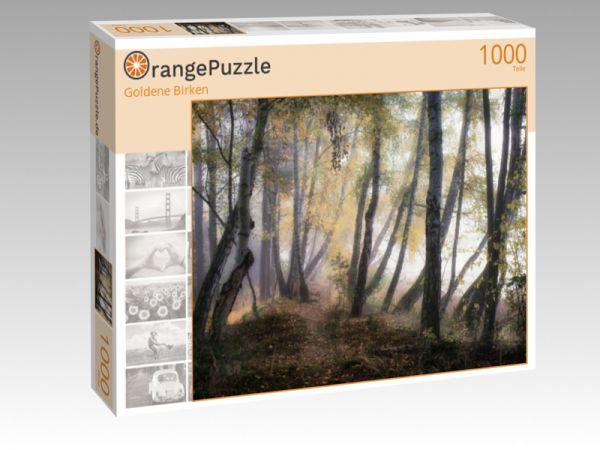 """Puzzle Motiv """"Goldene Birken"""" - Puzzle-Schachtel zu 1000 Teile Puzzle"""