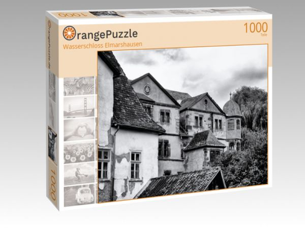"""Puzzle Motiv """"Wasserschloss Elmarshausen"""" - Puzzle-Schachtel zu 1000 Teile Puzzle"""