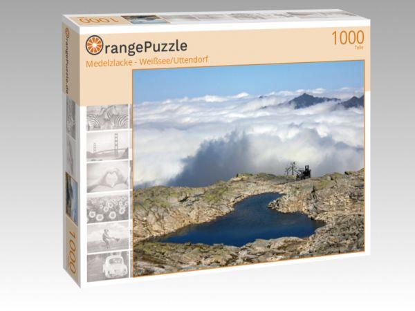 """Puzzle Motiv """"Medelzlacke - Weißsee/Uttendorf"""" - Puzzle-Schachtel zu 1000 Teile Puzzle"""
