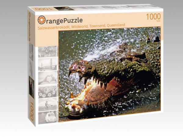 """Puzzle Motiv """"Salzwasserkrokodil, Wildworld, Townsend, Queensland"""" - Puzzle-Schachtel zu 1000 Teile Puzzle"""