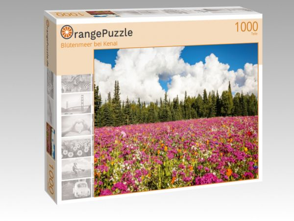 """Puzzle Motiv """"Blütenmeer bei Kenai"""" - Puzzle-Schachtel zu 1000 Teile Puzzle"""