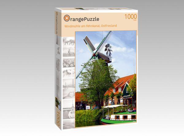 """Puzzle Motiv """"Windmühle am Fehnkanal, Ostfriesland"""" - Puzzle-Schachtel zu 1000 Teile Puzzle"""