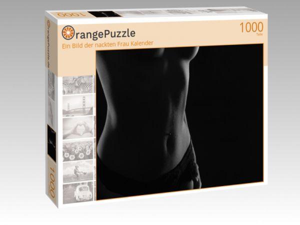 """Puzzle Motiv """"Ein Bild der nackten Frau Kalender"""" - Puzzle-Schachtel zu 1000 Teile Puzzle"""