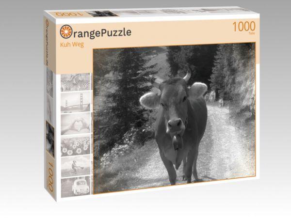 """Puzzle Motiv """"Kuh Weg"""" - Puzzle-Schachtel zu 1000 Teile Puzzle"""