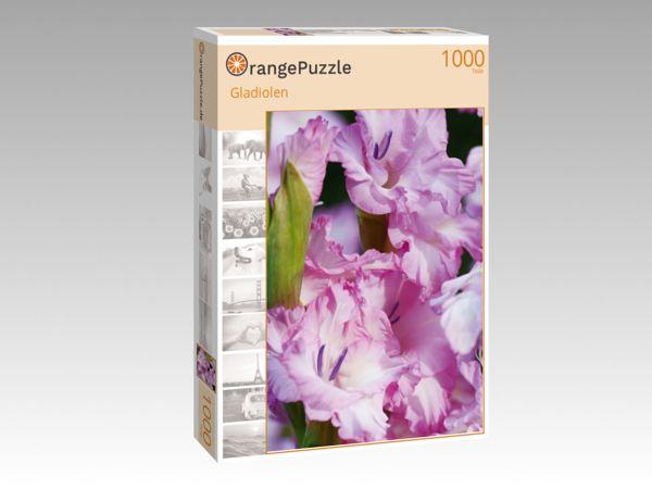 """Puzzle Motiv """"Gladiolen"""" - Puzzle-Schachtel zu 1000 Teile Puzzle"""