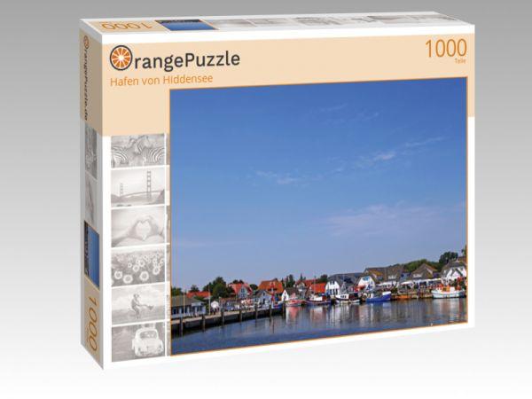 """Puzzle Motiv """"Hafen von Hiddensee"""" - Puzzle-Schachtel zu 1000 Teile Puzzle"""