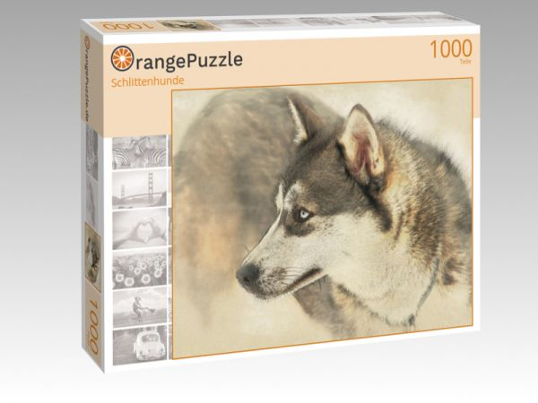 "Puzzle Motiv ""Schlittenhunde"" - Puzzle-Schachtel zu 1000 Teile Puzzle"