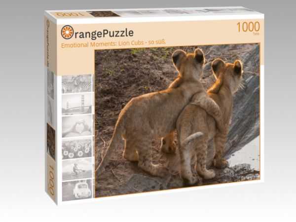 "Puzzle Motiv ""Emotional Moments: Lion Cubs - so süß."" - Puzzle-Schachtel zu 1000 Teile Puzzle"