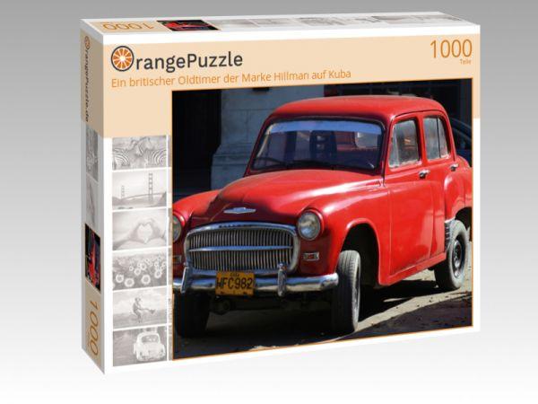 """Puzzle Motiv """"Ein britischer Oldtimer der Marke Hillman auf Kuba"""" - Puzzle-Schachtel zu 1000 Teile Puzzle"""