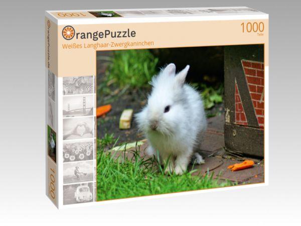 """Puzzle Motiv """"Weißes Langhaar-Zwergkaninchen"""" - Puzzle-Schachtel zu 1000 Teile Puzzle"""