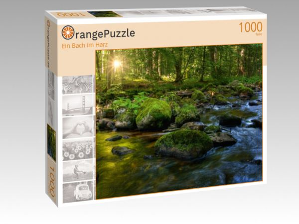"""Puzzle Motiv """"Ein Bach im Harz"""" - Puzzle-Schachtel zu 1000 Teile Puzzle"""