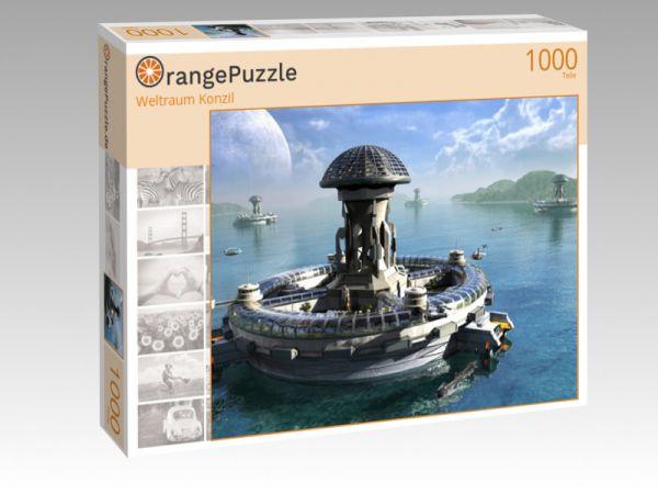 """Puzzle Motiv """"Weltraum Konzil"""" - Puzzle-Schachtel zu 1000 Teile Puzzle"""