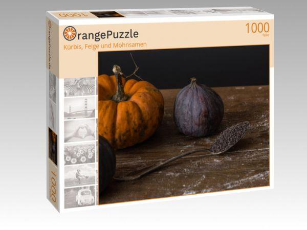 """Puzzle Motiv """"Kürbis, Feige und Mohnsamen"""" - Puzzle-Schachtel zu 1000 Teile Puzzle"""