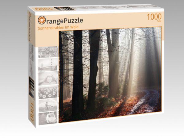 """Puzzle Motiv """"Sonnenstrahlen im Wald"""" - Puzzle-Schachtel zu 1000 Teile Puzzle"""
