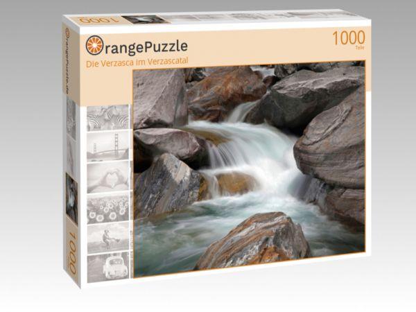 """Puzzle Motiv """"Die Verzasca im Verzascatal"""" - Puzzle-Schachtel zu 1000 Teile Puzzle"""